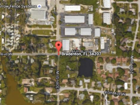 Crash location at 46th Avenue West and 30th Street West Bradenton FL